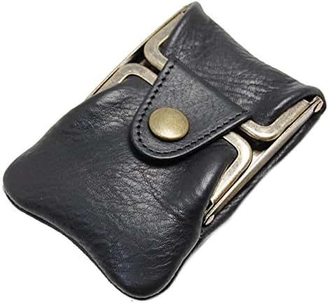Masago Men's Made in Japan Minerva Box Leather coin purse M-601 Black