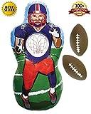 Premium Inflatable Football Target Set - Inflates to 5 Feet Tall! - 2x Mini Footballs Included! - Bonus Flag Football eBook!