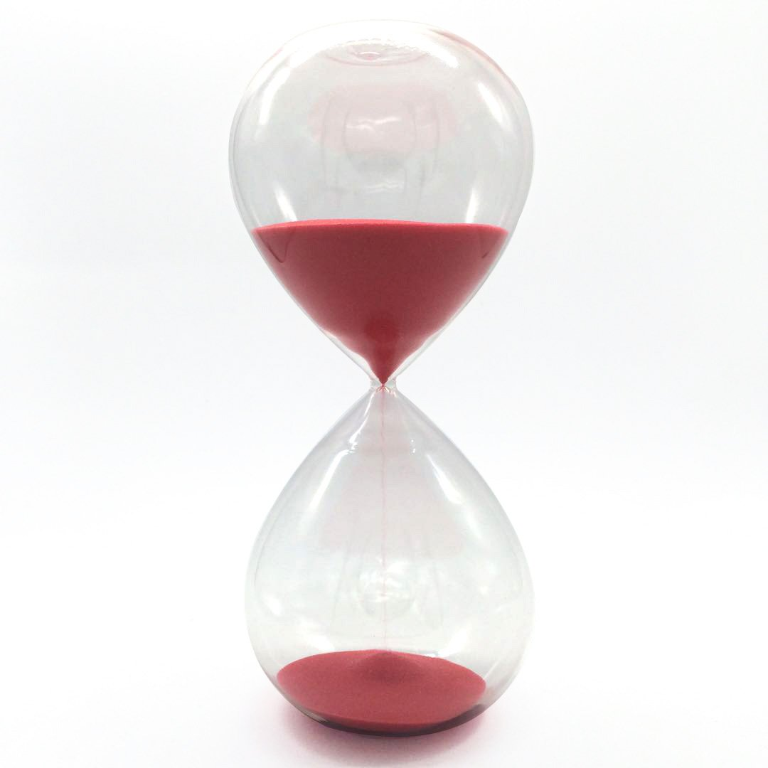 60Minutes Sand Glass Hourglass Timer Clock Home Office Decor Gift Magic (60 Minutes, Red) by Generic
