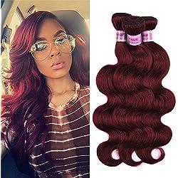 "Top Hair Brazilian Virgin Human Hair Extension #33 Body Wave Brazilian Hair Body Wave Length 10-24inch 100g/Bundle (18"" 20"" 22"")"