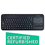 Logitech Wireless Touch Keyboard K400 with Built-In Multi-Touch Touchpad, Black (Certified Refurbished)