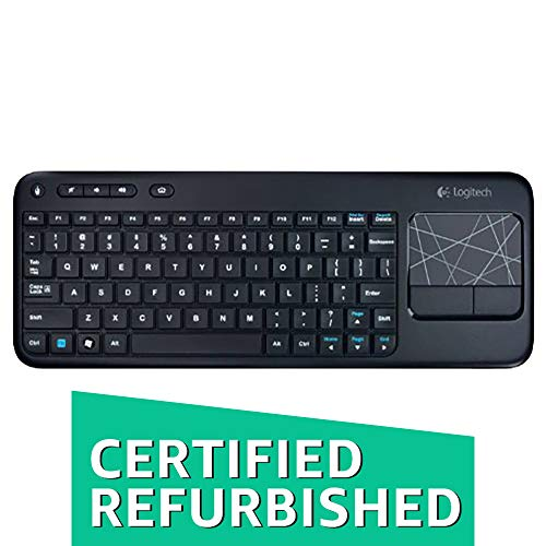 (Logitech Wireless Touch Keyboard K400 with Built-In Multi-Touch Touchpad, Black (Renewed))