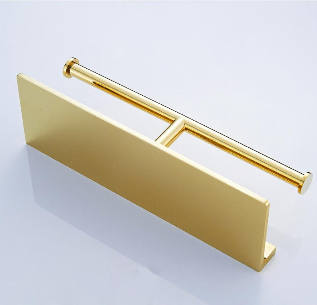Modern luxury fashion bathroom toilet paper holder Toilet roll holder bathroom accessory,double towel rack golden d