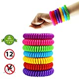 ECOSHIELD Mosquito Bracelets, Natural and Waterproof Wrist Bands for Adults, Kids, Pets (12 Pack)