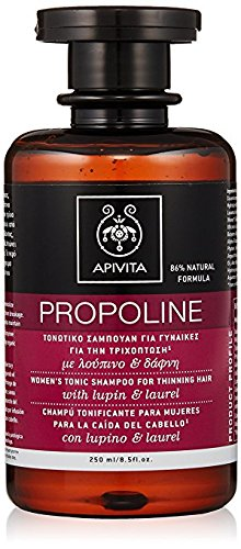 3 X Apivita Propoline Women's Tonic Shampoo for Thinning Hair (3 Bottles x 8.5 fl oz. each one)