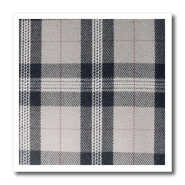 3dRose ht_113032_1 Gray tartan pattern-contemporary modern preppy plaid grey and black-fashionable checkered checks-Iron On Heat Transfer, 8 by 8