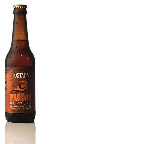 Pardao cerveza artesana Tostada pack de 6 x 33 cl . Botella Vidrio