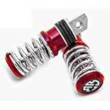 Delhitraderss Spring Coil Style Bike Foot Pegs Foot Rest ped Set Of 2 Red For-Bajaj Pulsar 150 Type 1