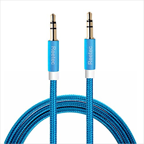 Reetec 3.3 Ft Nylon Audio Cable Male to Male 3.5mm Aux Co...