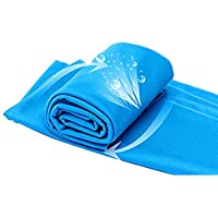 Cliramer 88x28cm Microfiber Cooling Towel (Light Blue)