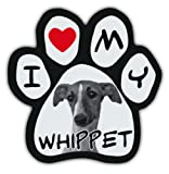 Picture Paws | Dog Paw Shaped Magnets: I LOVE MY WHIPPET | Car Magnet