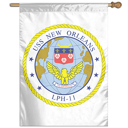 Navy USS New Orleans LPH11 Home Banner Flags Springtime 27