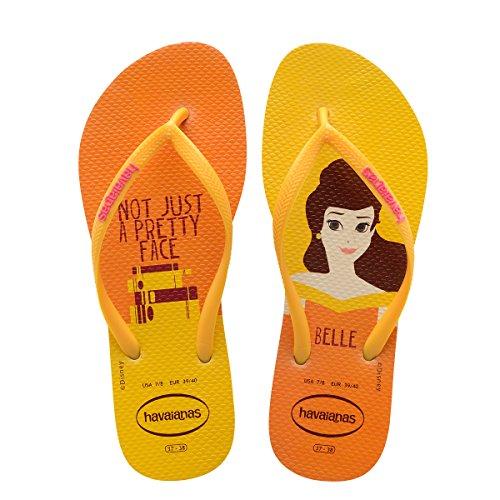 Havaianas Women's Slim Princess Flip Flops Beige/Yellow 1 37-38 M - Orange Havaianas