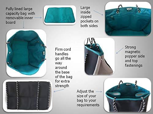 4d7639fd4 VORSURE Neoprene Multi-way Multi-purpose Adjustable Large Designer Beach  Bag Tote Inner Zipped Pockets - Beach, Gym, shopping, Work, Sailing,  Holidays, ...
