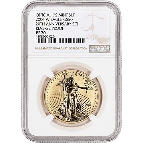 2006 Reverse Proof (2006 W American Gold Eagle Reverse Proof (1 oz) Large Label $50 PF70 NGC)