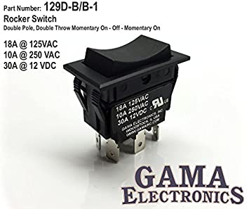 Amazoncom Amp DPDT Momentary OnOffMomentary On Rocker - 2 way momentary switch