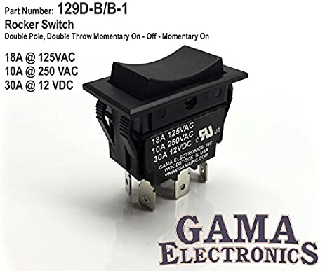 51qDP2Do28L._SX463_ amazon com 30 amp dpdt momentary on off momentary on rocker Power Door Lock Switch Diagram at reclaimingppi.co