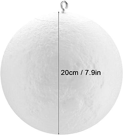 Riuty Lámpara de la Luna de la impresión 3D de 16 Colores, luz de ...