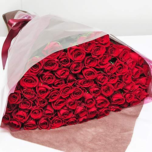 赤いバラの花束 70本 最高級のトップローズを使用 薔薇 エーデルワイス 花工房 B07NYNSL1T
