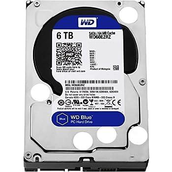 WD 6TB Blue Desktop Hard Disk Drive 5400RPM SATA 6Gb s 64MB Cache Model WD60EZRZ