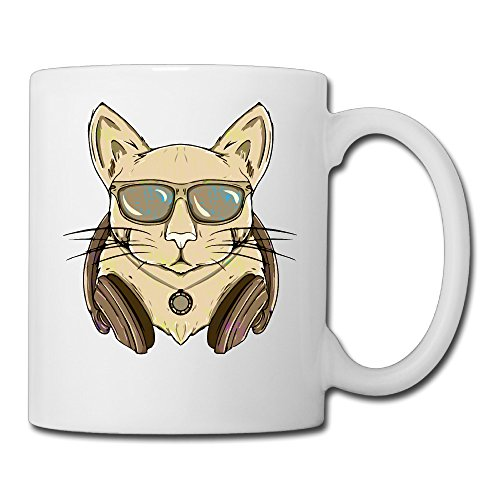 Cool Cartoon Cat Coffee Mug Water Cup Drinking Cup Beer Mug Milk Cup Tea Cup Restaurant Cups Ceramic Mug Morning Cup White