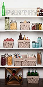 Home Traditions Vintage Metal Chicken Wire Kitchen Storage