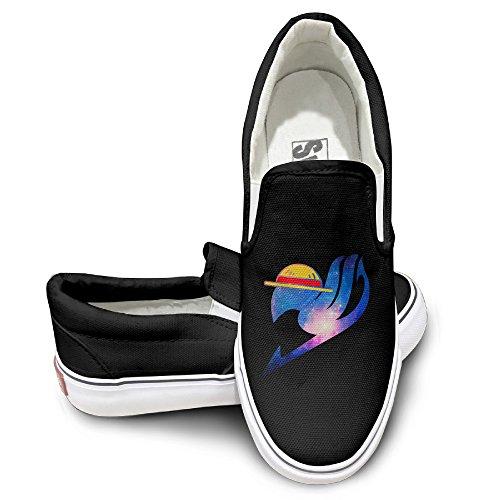 Ewied Unisex Classic Cool Anima Logo Slip On Shoes Black Size43