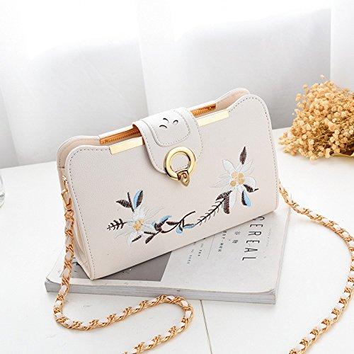 Satchel GUANGMING77 Deep Pequeña Bolso Flowers Flores Personalidad Bag white Verano De Purple handbag dpprYx