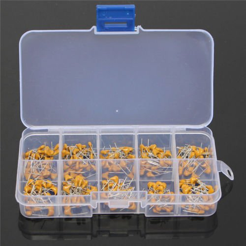 300pcs 10 Value 50V 10pF to 100nF Multilayer Ceramic Capacitor Assortment Kit