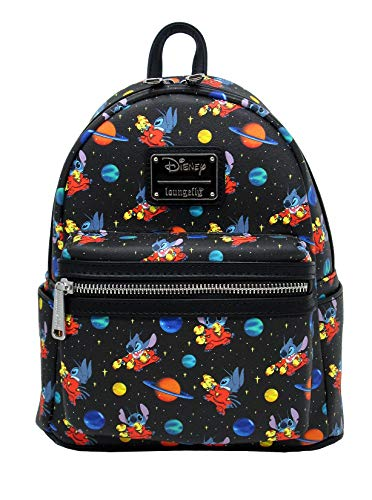 Loungefly x Disney Lilo and Stitch in Space Allover-Print Mini Backpack