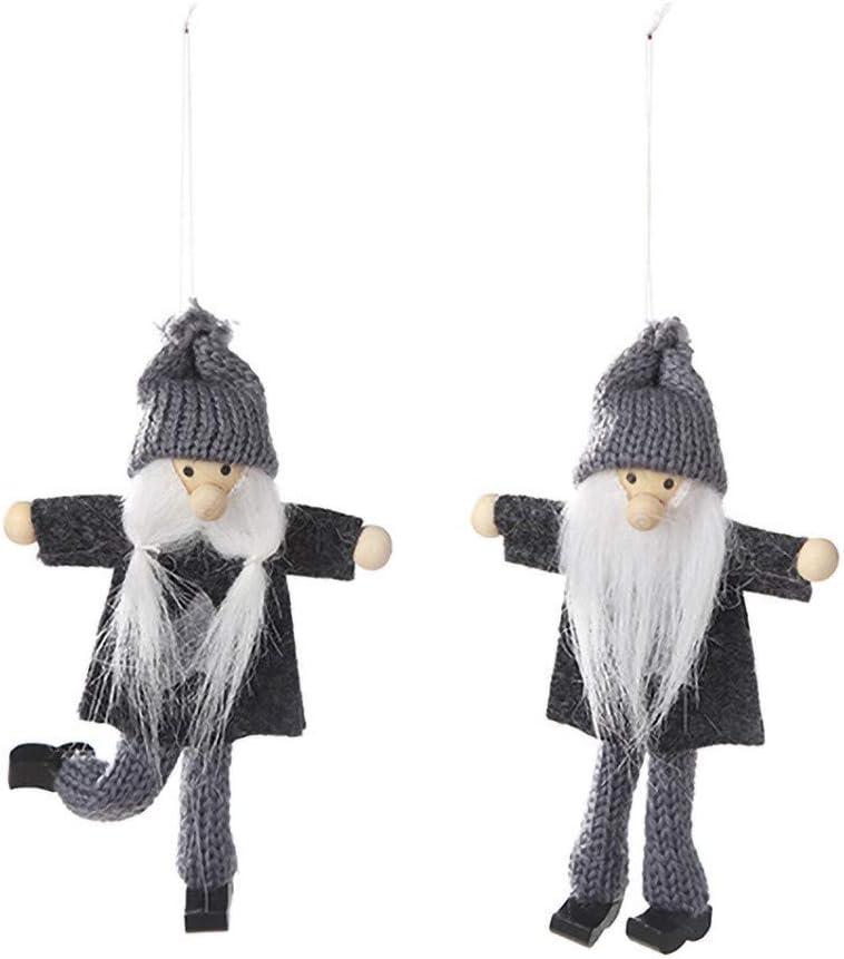 Storerine No/ël D/écoration pour Sapin Figurine Suspendu Ornement de No/ël Bijoux No/ël en Tissu D/écor de Table Cadeau No/ël Original