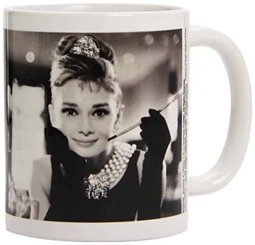 Black & White Audrey Hepburn Ceramic Mug