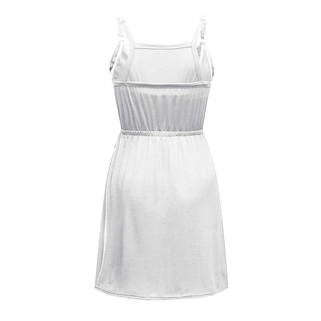 COLNER Womens Basics Sleeveless Crew Neck Dress,Ms Pregnant Women Multi-Functional Breastfeeding Dress