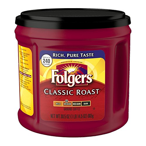 Folgers Classic Roast Ground Coffee, Medium Roast, 30.5 Ounce (Pack of 6)
