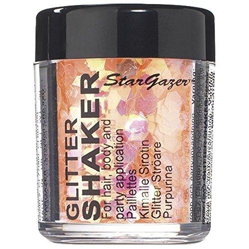 Stargazer Chunky Glitter Shaker - UV Orange 5g (For Hair, Body and Party) -