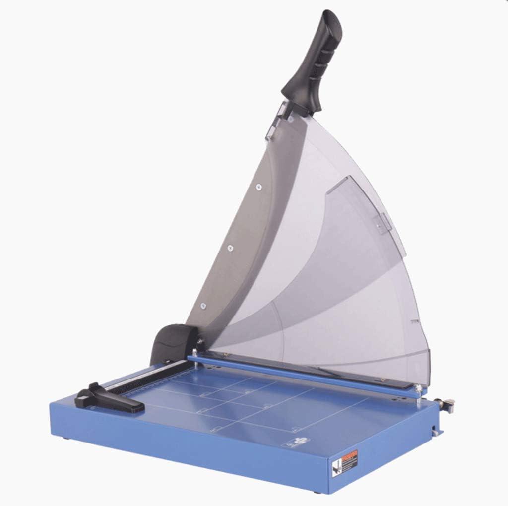 FAEIO Cortador de Papel Manual Potente recortador de Papel Guillotina 40 Hojas Cortadas de plástico de Hierro Fino/Escala Transparente / 335 × 430 × 375 mm