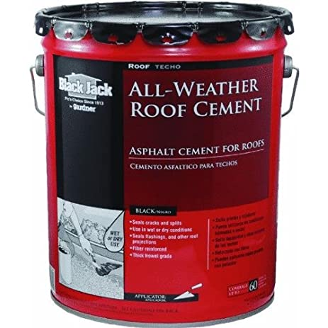 Awesome Black Jack 6230 All Weather Roof Cement, 5 Gallon Pail