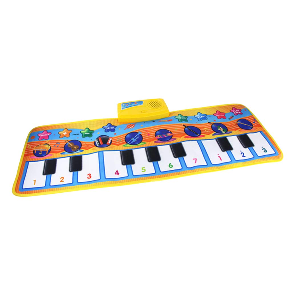 DYNWAVE Folding Musical Piano Mat 18 Keys Playmat Dancing Blanket Built-in Speaker Developmental Toy Gift for Kids Toddlers Boys & Girls (31.5x11.4 inch) by DYNWAVE (Image #2)