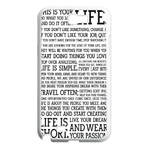 Start Simple Design Top Quality DIY Hard Case Cover for Samsung Galaxy Note 2 N7100, Start Simple Galaxy Note 2 N7100 Phone Case Kimberly Kurzendoerfer