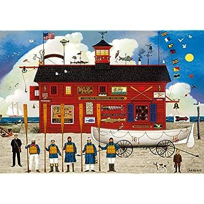 Buffalo Games - Charles Wysocki - The Sea Buglers - 300 Large Piece Jigsaw Puzzle: Toys & Games