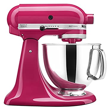 KitchenAid KSM150PSCB Artisan Series 5-Qt. Stand Mixer with Pouring Shield (Cranberry)