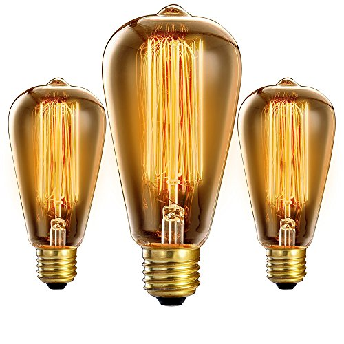 Vintage - Extra Long Life - Premium Quality Edison Bulb 3-Pack