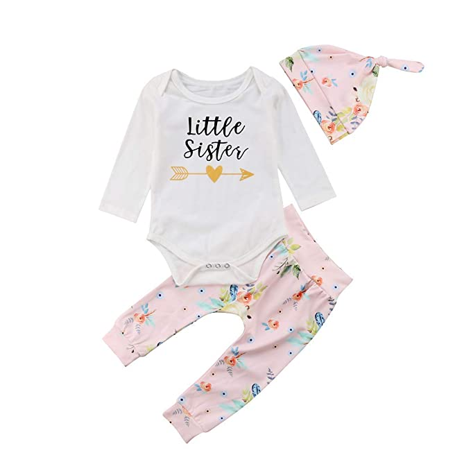 1141bc35454c2 i-Auto Time Baby Girl Clothes Big Little Sister Romper T-Shirt ...