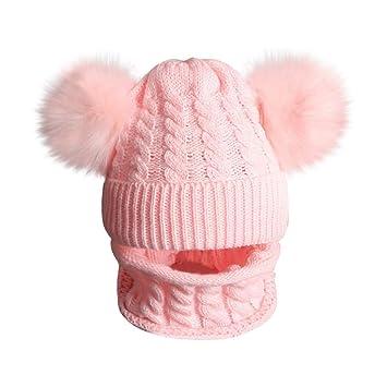 Kinder Winter Strickmütze Beanie Mütze Hüte Cap Warm Mädchen Jungen 2 Ohr Baby