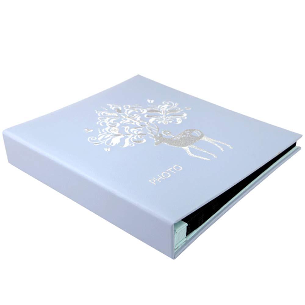 ZZHF xiangche Álbum de Fotos, impresión Gran Capacidad PU Insertar (4R) álbum 6 Pulgadas (4R) Insertar Insertar Libro conmemorativo para los Amantes de los niños (3 Colores Opcionales) 360 Hojas Album (Color : B) 15a365