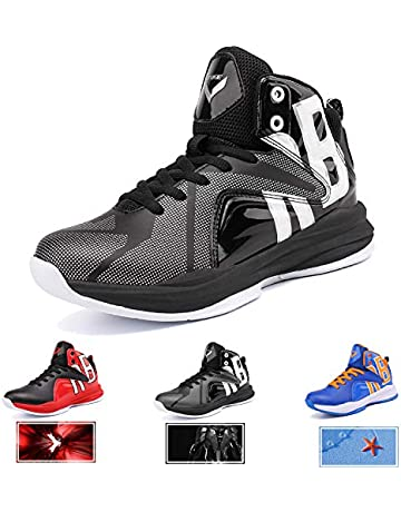 fa919776280 WETIKE Kid s Basketball Shoes High-Top Sneakers Outdoor Trainers Durable  Sport Shoes(Little Kid