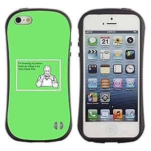 Fuerte Suave TPU GEL Caso Carcasa de Protección Funda para Apple Iphone 5 / 5S / Business Style Chemicals Sandwich Hamburger Healthy Funny Quote
