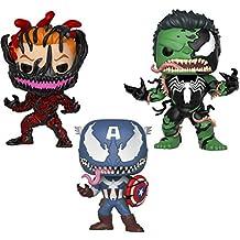 Funko Marvel: Venom Collectors Set 4 - Venom Captain America, Venom Hulk, Carnage Cletus Kasady