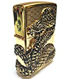 Zippo Snake Coil Gold Lighter / Genuine Authentic / Original Packing (6 Flints set Free Gift)