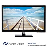 Atron Vision Professional Gaming Monitor AVQ270S. WQHD (2560X1440) 27-inch Widescreen LED Monitor. Virtual 4K, 4ms, Flicker Free, Low Blue Light, Built Premium Speaker, HDMI, DVI, Display Port.